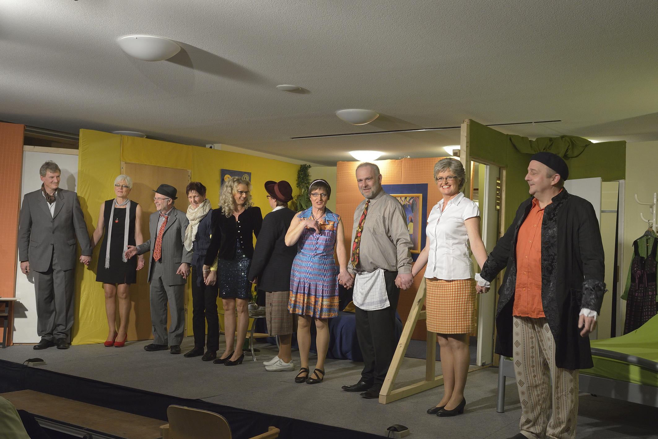 Aufführung Gruppe Mumm am 9.3.2014 im Forum der Grundschule Kutenhausen Heimatverein Kutenhausen
